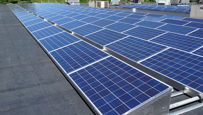 Dover Commercial Building SolarDock Ballasted Roof Mounted Solar Photovoltaic Project